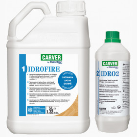 Water-based two-component finish IDROFIRE